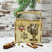 """Наборы ручной работы. Ярмарка Мастеров - ручная работа Подарочный набор для глинтвейна """"Две снежинки"""". Handmade."""