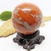 Фен-шуй и эзотерика handmade. Livemaster - original item A ball of red Jasper 47 mm. Handmade.