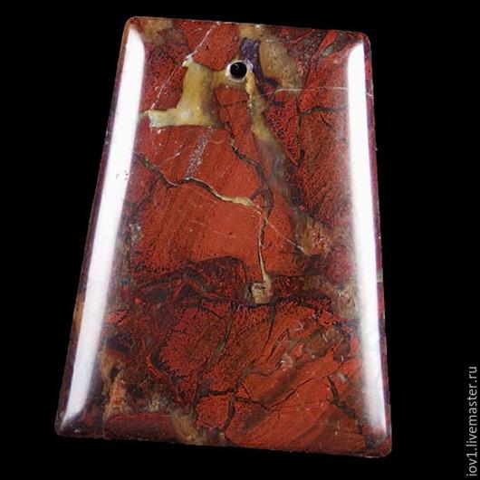 Для украшений ручной работы. Ярмарка Мастеров - ручная работа. Купить Кулон. Яшма. Красные берега Ляохэ. Handmade. Разноцветный