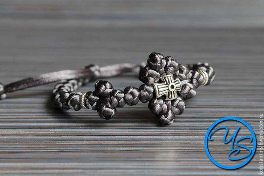 Четки ручной работы. Ярмарка Мастеров - ручная работа. Купить Брояница с плетеным крестом темно-серая. Handmade. Темно-серый