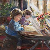 Картины ручной работы. Ярмарка Мастеров - ручная работа Дети рисуют. Handmade.