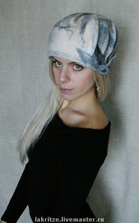 """Шляпы ручной работы. Ярмарка Мастеров - ручная работа. Купить Шляпа """"Листья под снегом"""". Handmade. Первый снег, листья"""