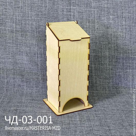 ЧД-03-001. Чайный домик с откидной крышкой. Без окон. Материал: фанера 3 мм сорт 2/2