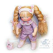 Куклы и игрушки ручной работы. Ярмарка Мастеров - ручная работа шарнирная кукла Дуняша, 29-30 см. (повтор). Handmade.