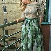 Одежда ручной работы. Ярмарка Мастеров - ручная работа юбка из органзы. Handmade.