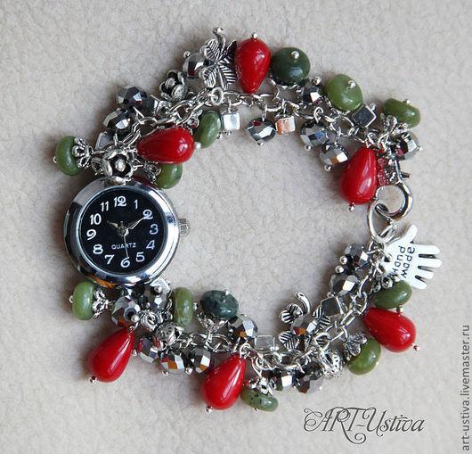 """Часы ручной работы. Ярмарка Мастеров - ручная работа. Купить Часы-браслет """"На удачу"""". Handmade. Браслет, браслет из камней"""
