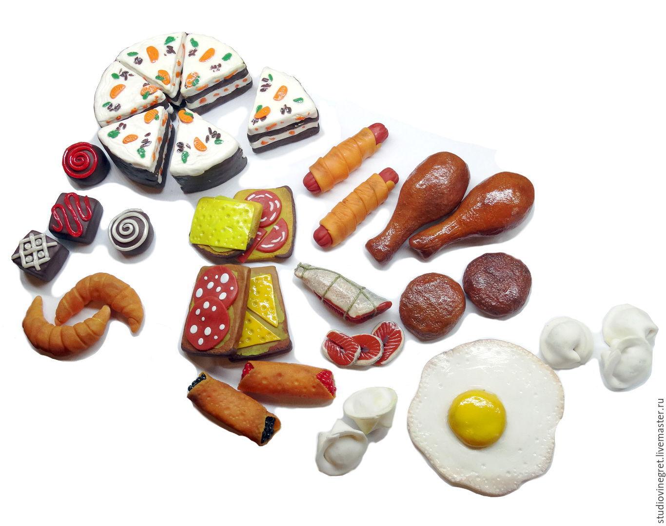 Еда из пластилина для барби