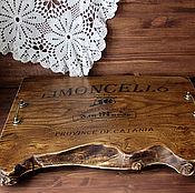 Для дома и интерьера handmade. Livemaster - original item Large serving tray in solid elm