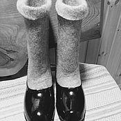 Обувь ручной работы. Ярмарка Мастеров - ручная работа Просто валенки с галошами. Handmade.