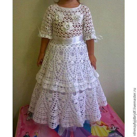 Одежда для девочек, ручной работы. Ярмарка Мастеров - ручная работа. Купить нарядное платье для девочки. Handmade. Белый