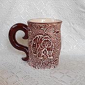 Посуда handmade. Livemaster - original item Mug ceramic Bruins. Handmade.