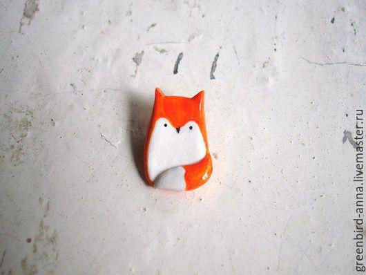 Броши ручной работы. Ярмарка Мастеров - ручная работа. Купить Лиса лисичка. Handmade. Рыжий, лисица, брошь, подарок, Рыжая