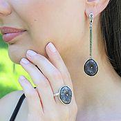 Украшения handmade. Livemaster - original item Modern 3 jewelry set made of 925 DD0108 silver. Handmade.