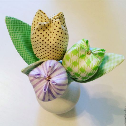 Куклы Тильды ручной работы. Ярмарка Мастеров - ручная работа. Купить Тюльпаны текстильные - необычный букет. Handmade. Комбинированный, тюльпан