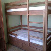 Для дома и интерьера ручной работы. Ярмарка Мастеров - ручная работа Двухъярусная кровать с ящиками. Handmade.