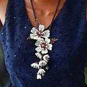 Украшения handmade. Livemaster - original item Sakura Bead Necklace. Handmade.
