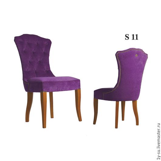 Дизайнерский стул S11 с гвоздиками и каретной стяжкой в стиле капитоне