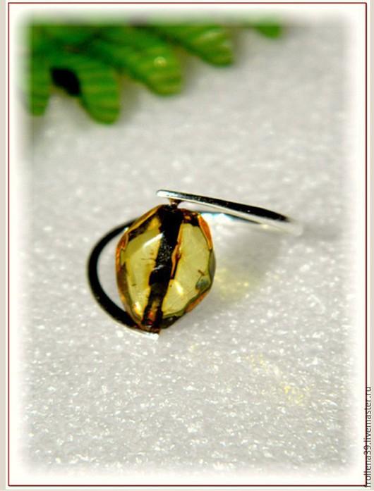 """Кольца ручной работы. Ярмарка Мастеров - ручная работа. Купить Кольцо """"Кошачий глаз""""  янтарь мельхиор. Handmade. Лимонный, Глаза"""