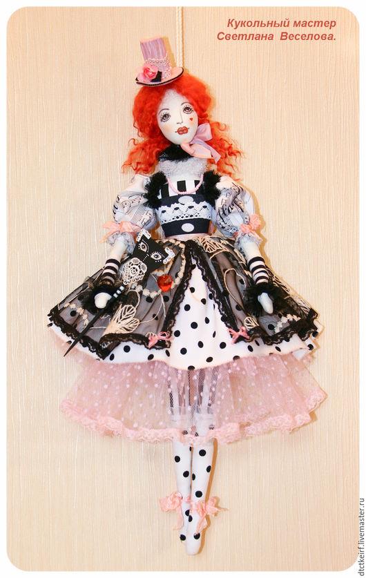 Куклы Тильды ручной работы. Ярмарка Мастеров - ручная работа. Купить кукла тильда КОЛОМБИНА. Handmade. Чёрно-белый
