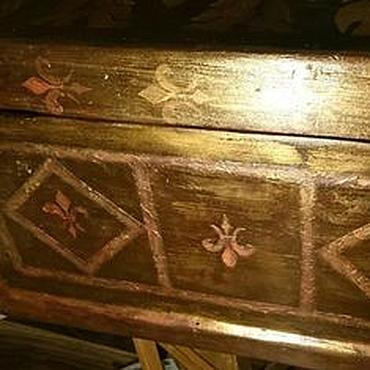 Diseño y publicidad manualidades. Livemaster - hecho a mano La decoración (pintura) de un antiguo cofre (mesa, silla) en san petersburgo. Handmade.