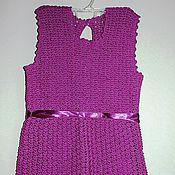 Работы для детей, ручной работы. Ярмарка Мастеров - ручная работа Фиолетовое платье. Handmade.