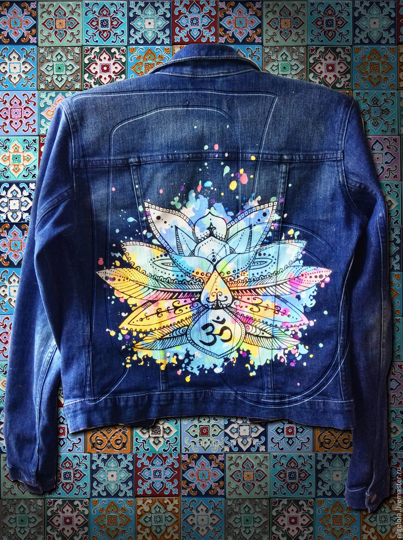 Роспись на джинсовой куртке фото