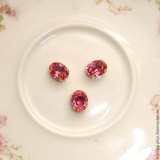 Для украшений ручной работы. Ярмарка Мастеров - ручная работа. Купить Винтажные кристаллы 8х6 мм - Rose. Handmade. Голубой