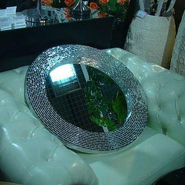 Для дома и интерьера ручной работы. Ярмарка Мастеров - ручная работа Зеркало в мозаичной раме, серебряный блеск. Handmade.
