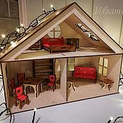 Кукольные домики ручной работы. Ярмарка Мастеров - ручная работа Кукольный домик с мебелью. Сьюитленд.. Handmade.