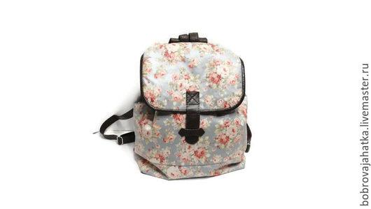 Рюкзаки ручной работы. Ярмарка Мастеров - ручная работа. Купить Непромокаемый рюкзак водонепроницаемый Винтажные розы Подарок девушке. Handmade.