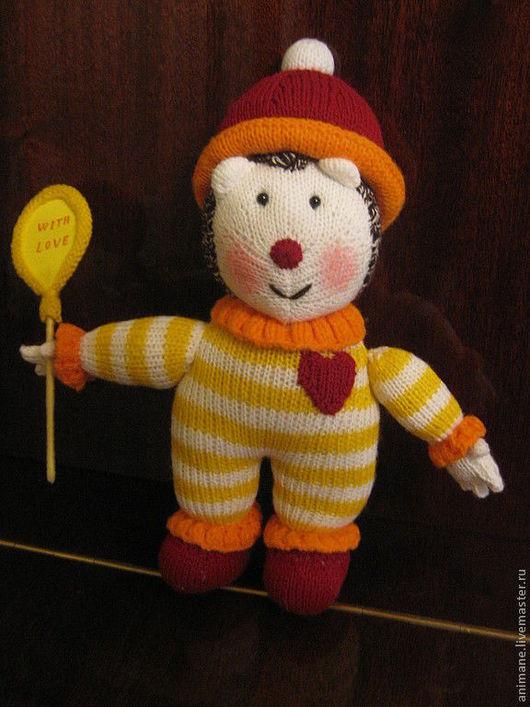 """Игрушки животные, ручной работы. Ярмарка Мастеров - ручная работа. Купить Вязаная игрушка """"Еж Клоун"""". Handmade. Желтый"""