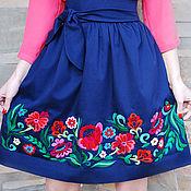 """Одежда ручной работы. Ярмарка Мастеров - ручная работа Эксклюзивная вышитая юбка """"Праздник цветов"""". Handmade."""