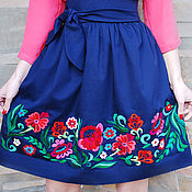 Одежда handmade. Livemaster - original item Exclusive embroidered skirt