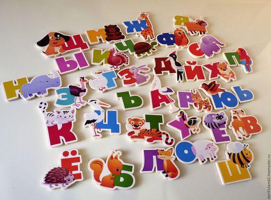 """Развивающие игрушки ручной работы. Ярмарка Мастеров - ручная работа. Купить Магнитики """"Русский алфавит"""". Handmade. Комбинированный, развивающие игрушки"""