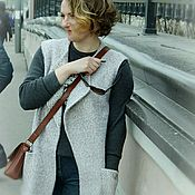 Одежда handmade. Livemaster - original item Longline vest. Handmade.