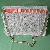 Классическая сумка ручной работы. Ярмарка Мастеров - ручная работа Модная женская сумка вязаная. Handmade.