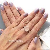 Украшения handmade. Livemaster - original item Wild Camellia ring natural quartz ring beautiful stylish. Handmade.