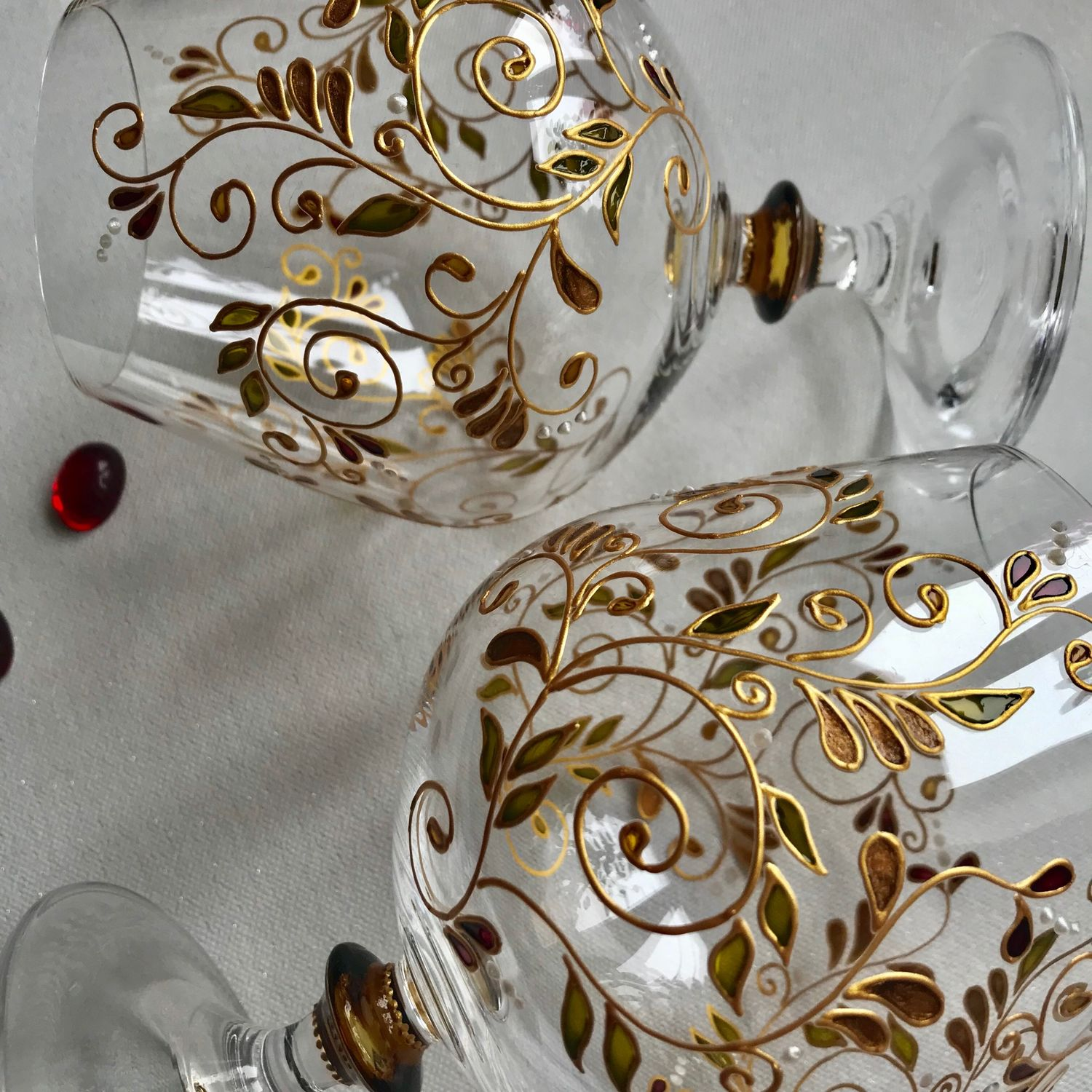 Cognac glasses with hand painted, Wine Glasses, Moscow,  Фото №1