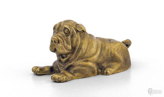 Статуэтки ручной работы. Ярмарка Мастеров - ручная работа. Купить Шарпей. Handmade. Бронза, статуэтка, скульптура, собака, сувениры и подарки