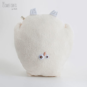 Для дома и интерьера handmade. Livemaster - original item Plush pillow toy Owl. Handmade.