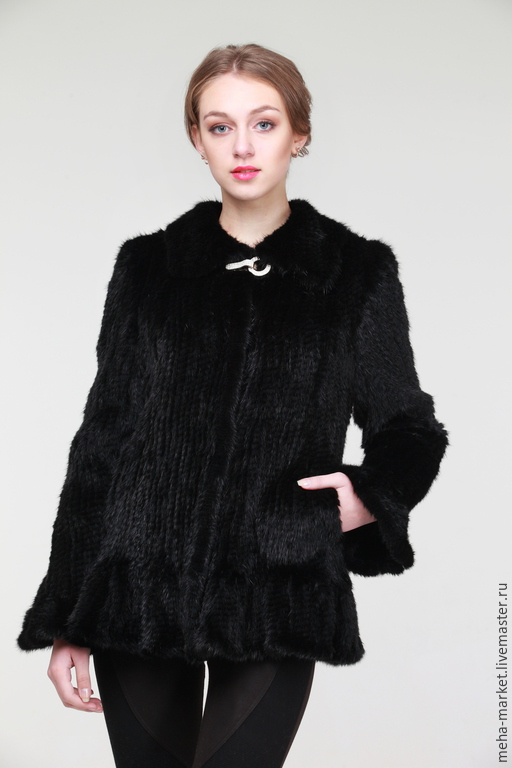 Куртка из вязаной норки `Ламбада`