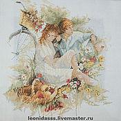 """Картины и панно ручной работы. Ярмарка Мастеров - ручная работа Вышитая картина """"Встреча"""". Handmade."""