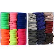 Резинки для волос (по 50 шт) небольшие в коробках основа