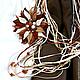 Комплекты украшений ручной работы. Комплект украшений из кожи Первый снег брошь и ожерелье. Творческая мастерская 'INGRID' (ingrid56). Интернет-магазин Ярмарка Мастеров.