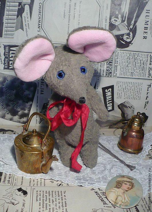 Мишки Тедди ручной работы. Ярмарка Мастеров - ручная работа. Купить Мышь. Handmade. Серый, подарок девушке, наполнитель для игрушек