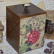 """Для дома и интерьера ручной работы. Ярмарка Мастеров - ручная работа Короб для хранения """"Королевские розы"""". Handmade."""