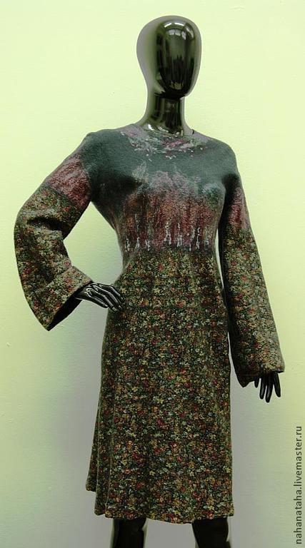 """Платья ручной работы. Ярмарка Мастеров - ручная работа. Купить Платье валяное """"Веселенький ситчик"""". Handmade. Платье, нуно-войлок"""