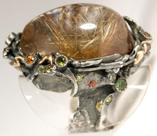 """Кольца ручной работы. Ярмарка Мастеров - ручная работа. Купить Кольцо с кварцем """"Сказочный мир"""". Handmade. Кварц, натуральные камни"""