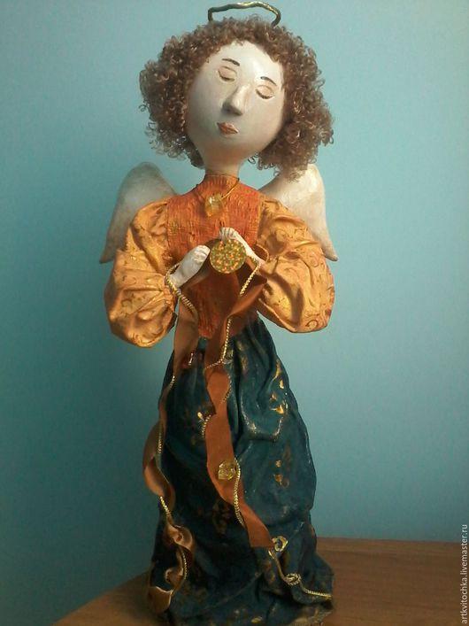 Коллекционные куклы ручной работы. Ярмарка Мастеров - ручная работа. Купить Ангел. Handmade. Оранжевый, фарфор, акриловые краски