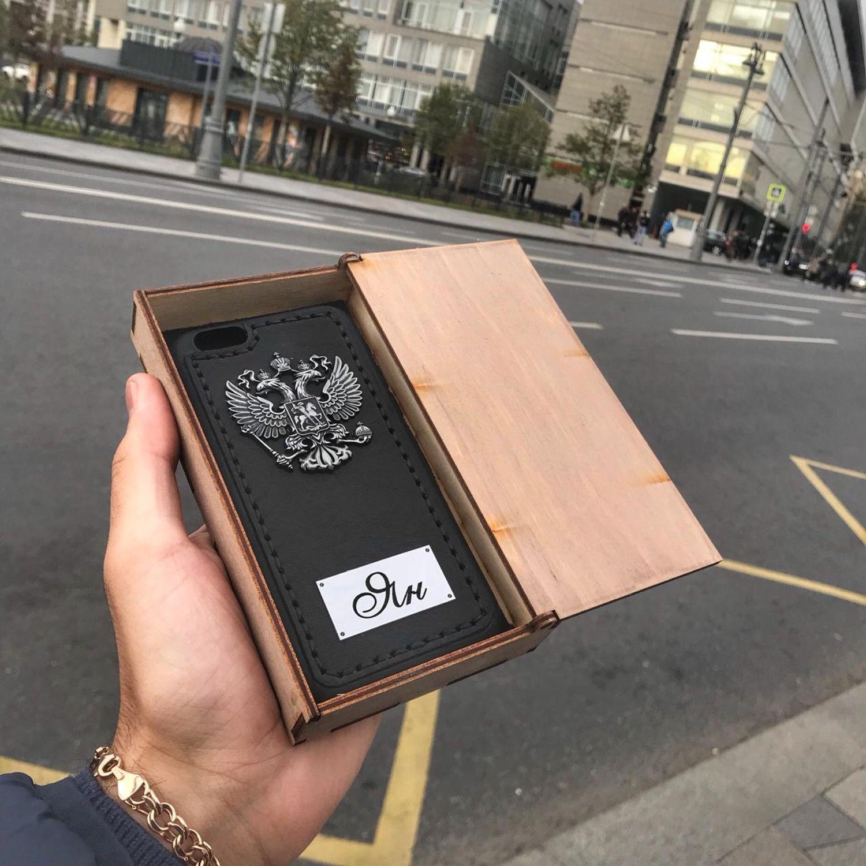 Кожаный чехол «Ян» для мобильных устройств Модель: iPhone 6s, Чехол, Мытищи,  Фото №1